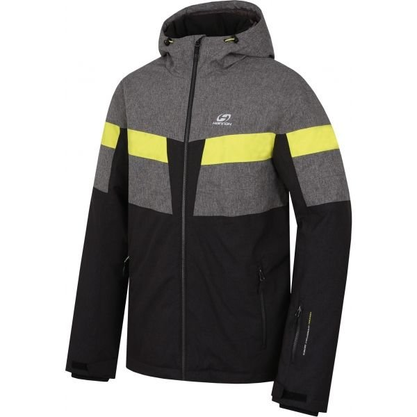 Černo-šedá pánská lyžařská bunda Hannah
