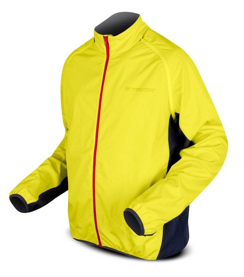 Žlutá pánská nebo dámská cyklistická bunda Trimm - velikost S