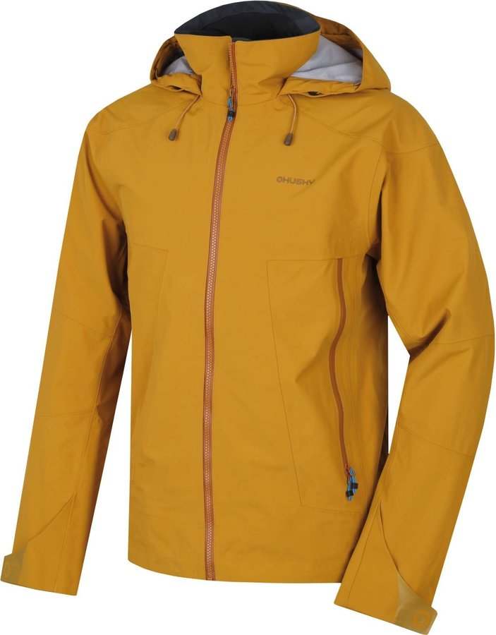 Žlutá pánská turistická bunda Husky - velikost XL