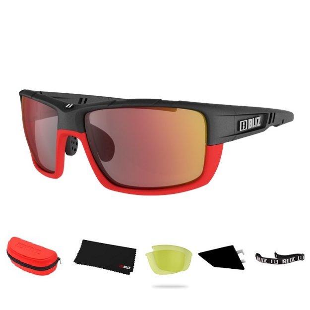 Cyklistické brýle - Sportovní sluneční brýle Bliz Tracker Ozon červené
