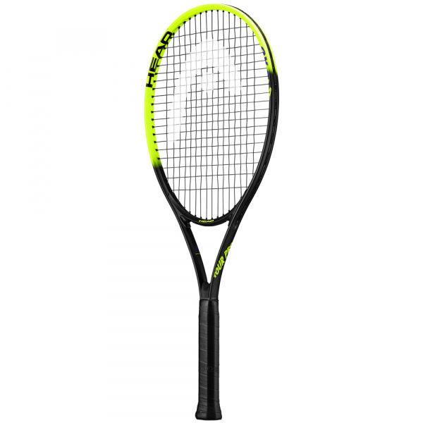 Černo-zelená tenisová raketa Head