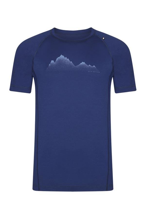 Modré pánské turistické tričko s krátkým rukávem Alpine Pro - velikost XXL