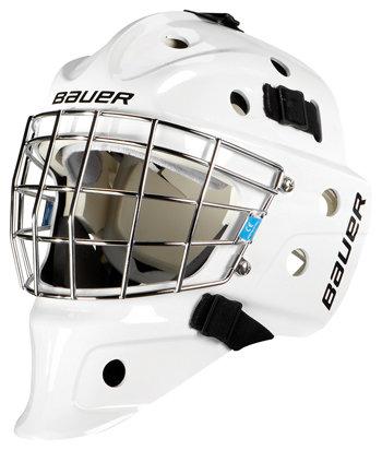 Bílá brankářská hokejbalová maska - junior Street NME, Bauer