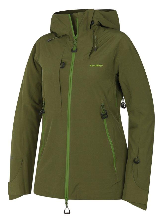 Zelená dámská lyžařská bunda Husky - velikost M