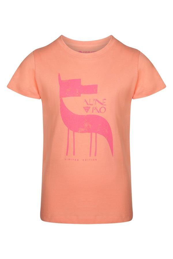 Oranžové dětské tričko s krátkým rukávem Alpine Pro