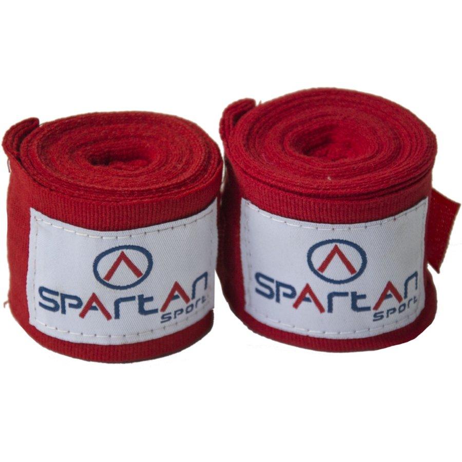 Červená boxerská bandáž Spartan - délka 3,5 m