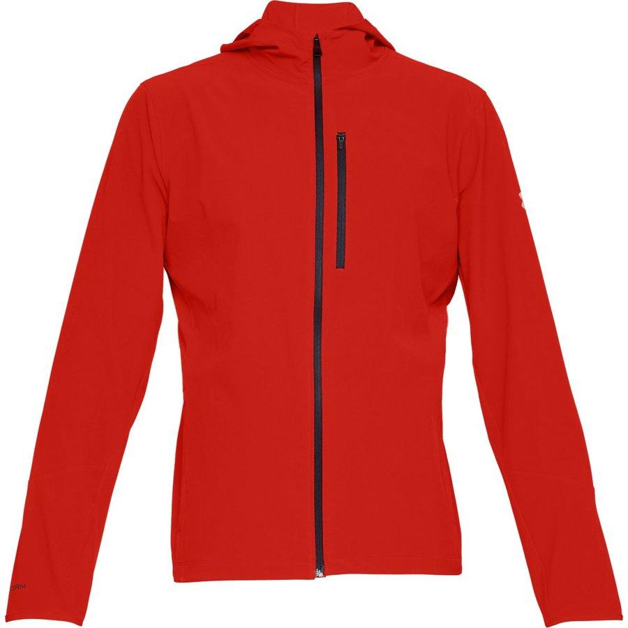 Červená pánská běžecká bunda s kapucí Outrun The Storm, Under Armour - velikost S