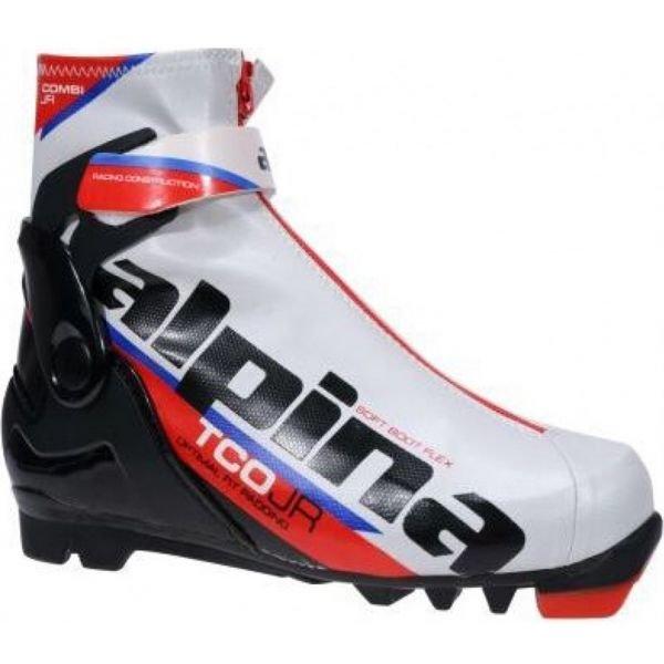 Bílo-černé dětské boty na běžky Alpina - velikost 33 EU