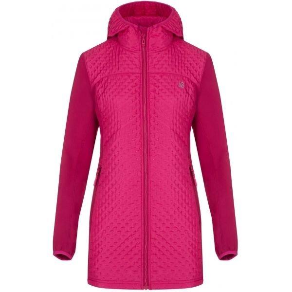 Růžový softshellový dámský kabát Loap