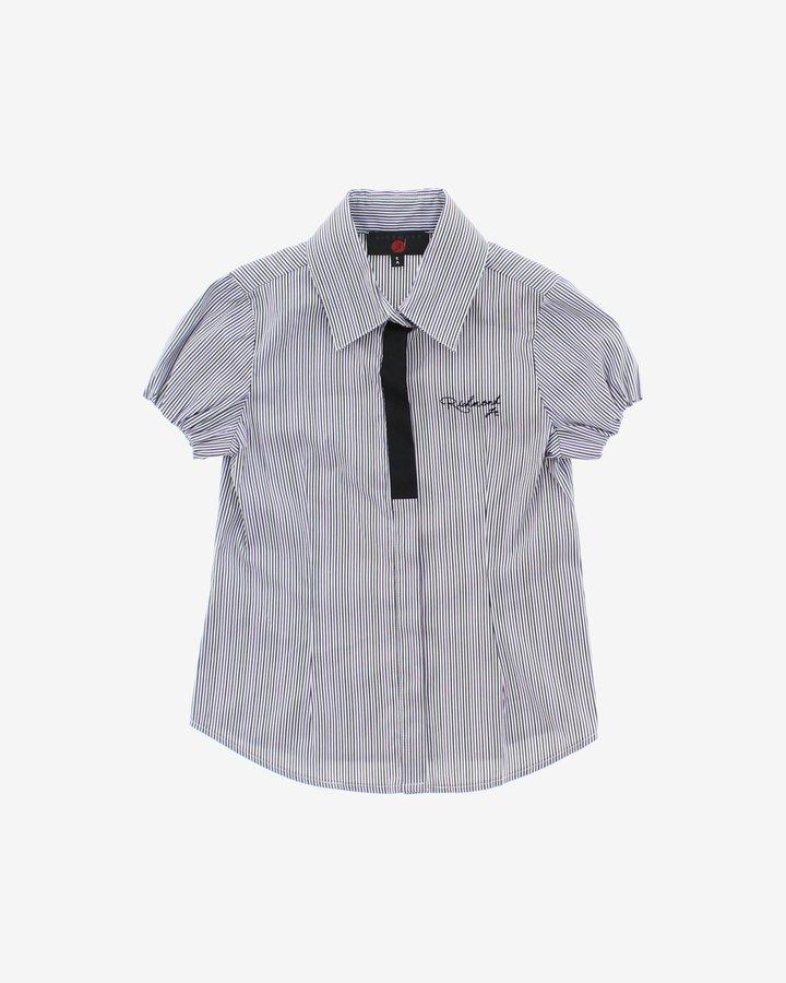 Bílo-černá dívčí košile s krátkým rukávem John Richmond - velikost 116