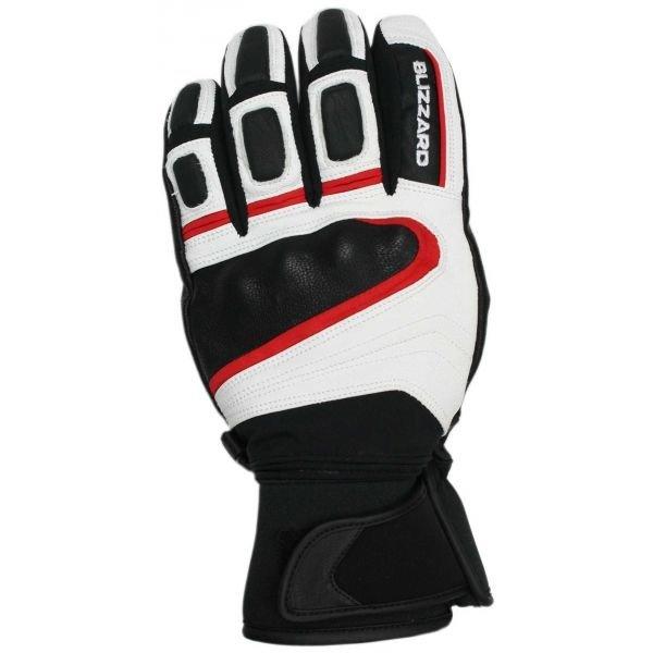 Bílo-černé pánské lyžařské rukavice Blizzard