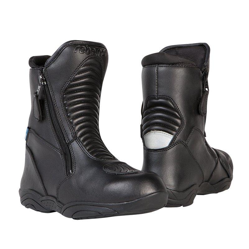 Černé nízké pánské motorkářské boty Rio, Rebelhorn