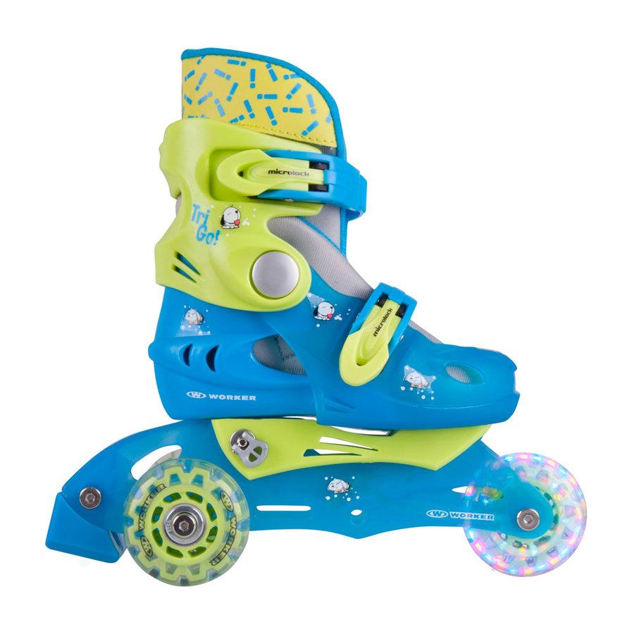 Modré chlapecké kolečkové brusle TriGo Skate LED, Worker - velikost 26-29 EU