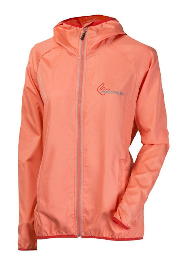 Růžová dámská běžecká bunda s kapucí TR Aero Lady 23UB, Progress