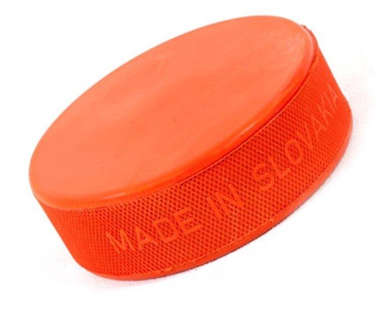 Oranžový hokejový puk - 260 g