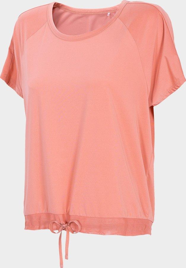 Růžové dámské tričko s krátkým rukávem 4F - velikost XS