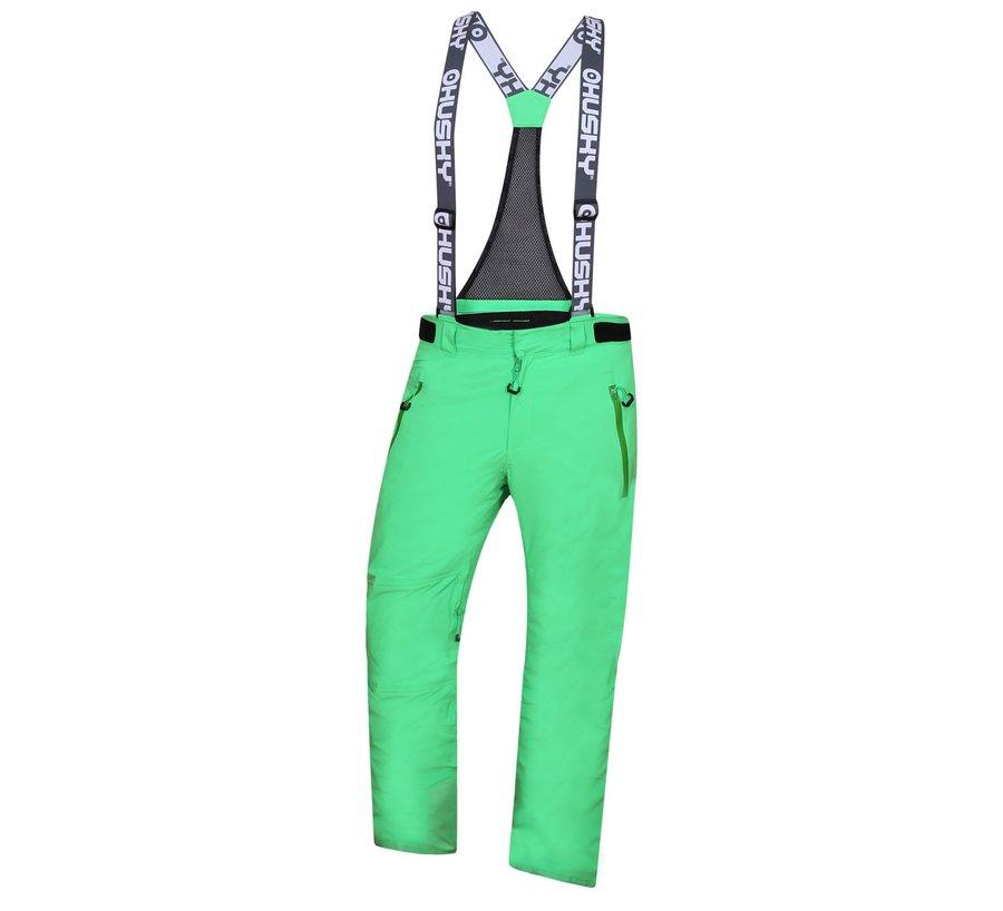 Zelené pánské lyžařské kalhoty Husky