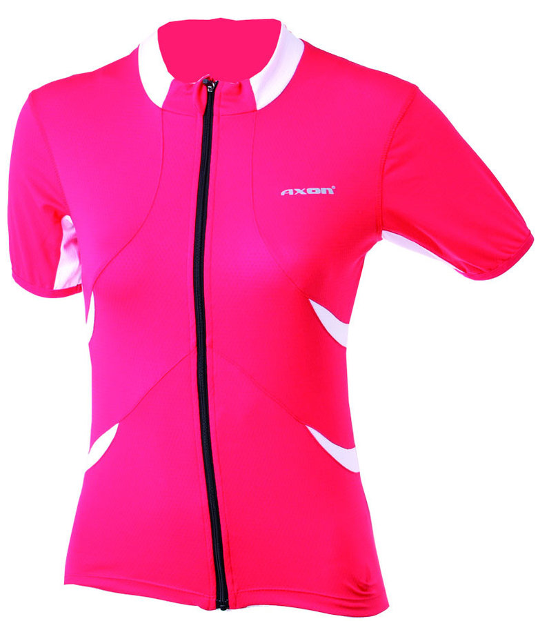 Červený dámský cyklistický dres Axon