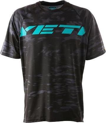 Černo-tyrkysový pánský cyklistický dres YETI - velikost L