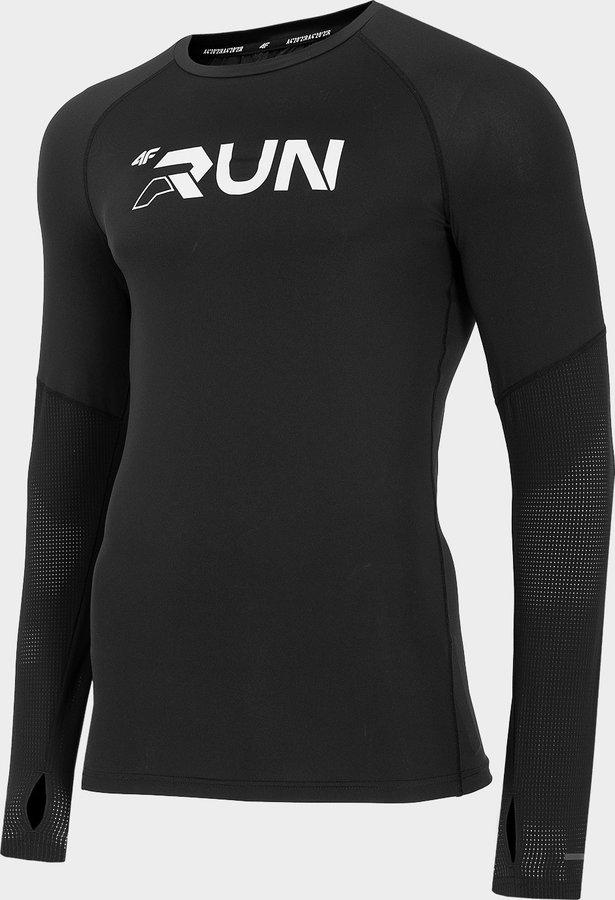 Černé pánské běžecké tričko 4F - velikost XXL