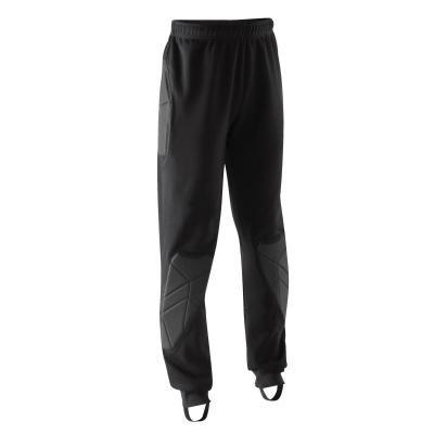 Černé dětské chlapecké nebo dívčí brankářské fotbalové kalhoty F100, Kipsta