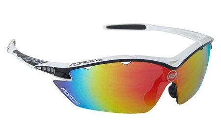 Bílo-černé cyklistické brýle RON, Force