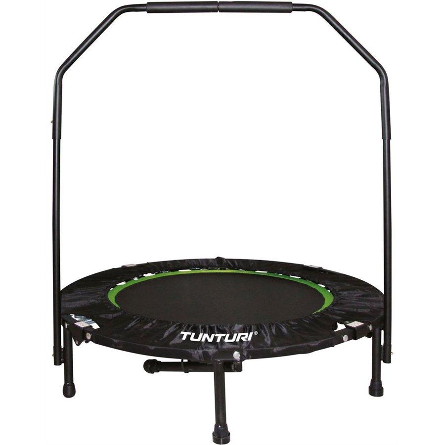 Kruhová fitness trampolína s madlem Tunturi - průměr 100 cm