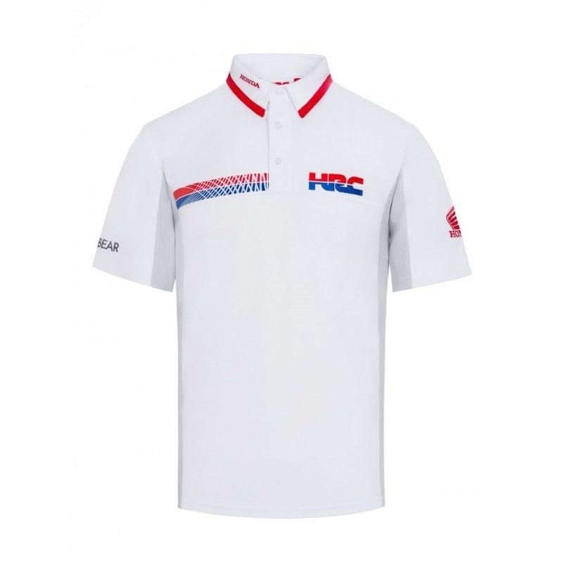 Bílé pánské motorkářské tričko s krátkým rukávem HRC Honda