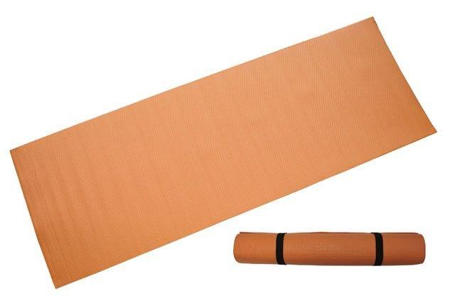 Oranžová podložka na cvičení CorbySport - tloušťka 0,4 cm