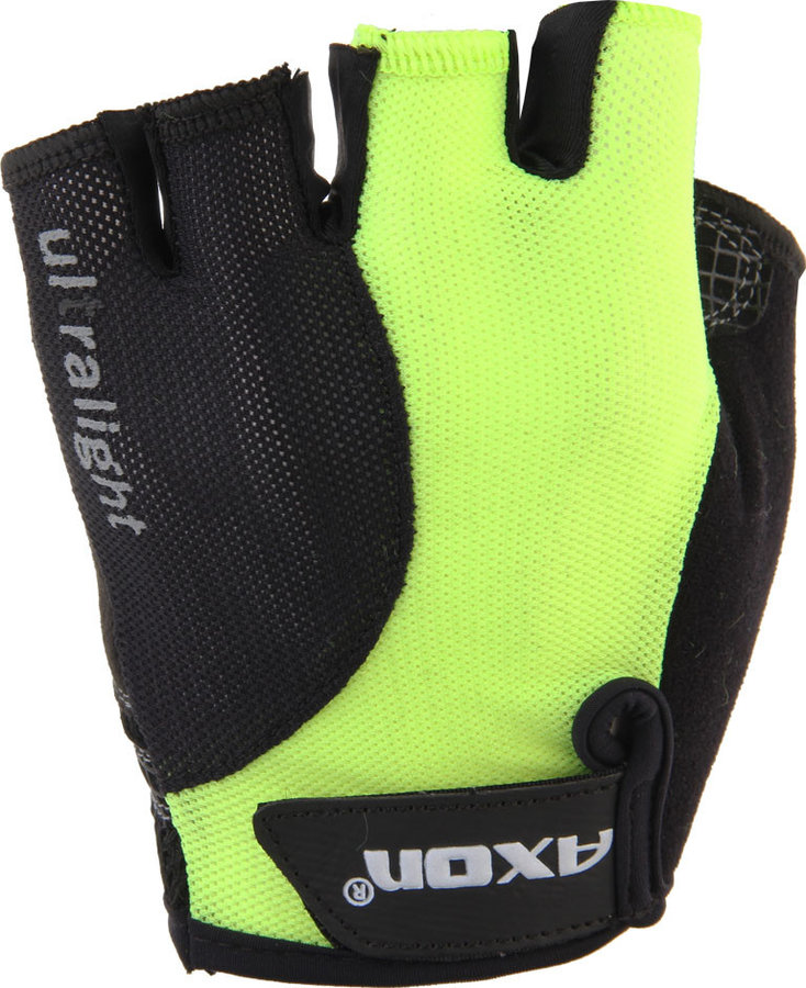 Žluté dámské cyklistické rukavice Axon - velikost XXL