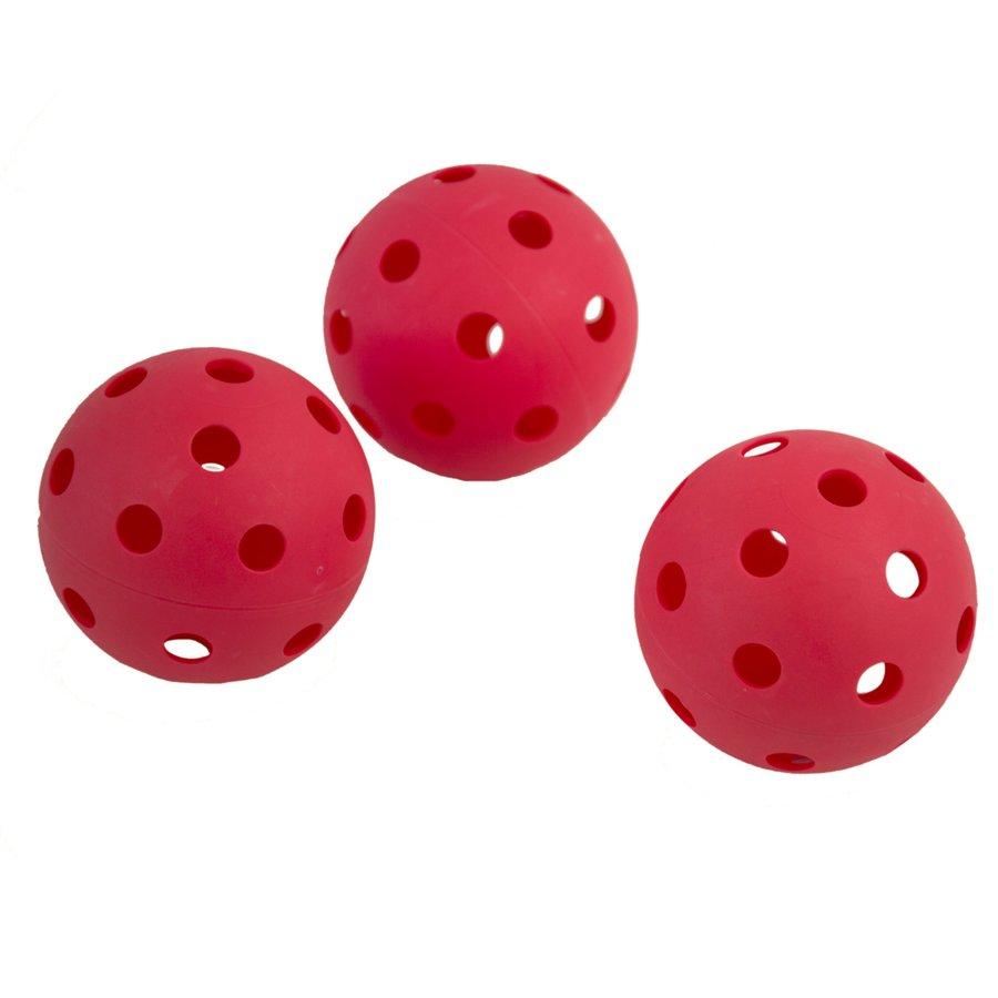 Červený florbalový míček Turn, Spokey - 3 ks