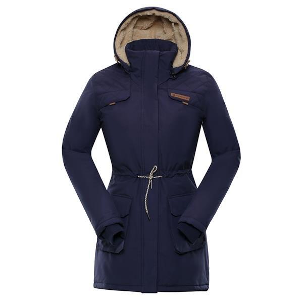 Modrý dámský kabát Alpine Pro - velikost XS