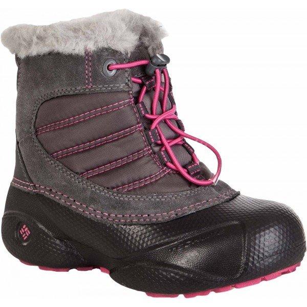 Růžové dívčí zimní boty Columbia