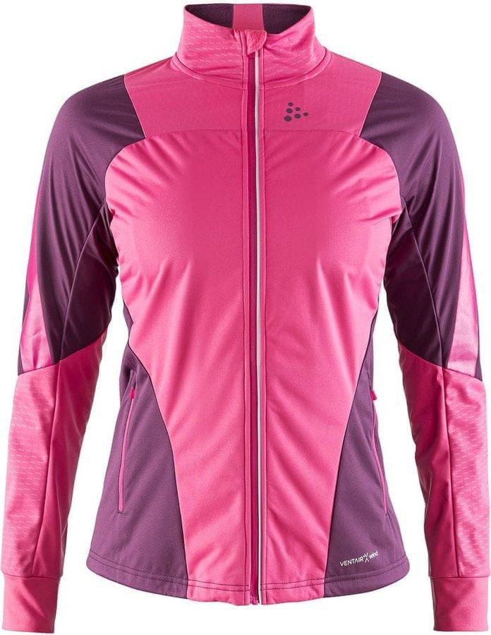 Růžová dámská bunda na běžky Craft - velikost M