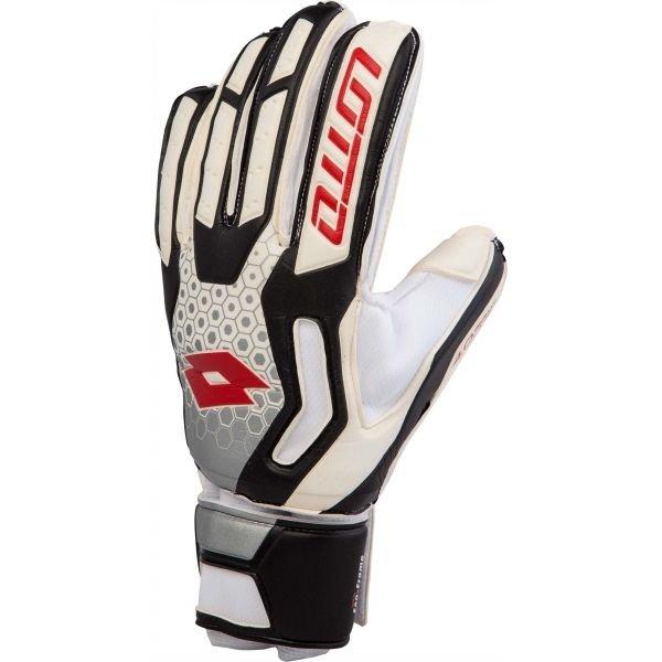 Bílo-černé pánské brankářské fotbalové rukavice Lotto