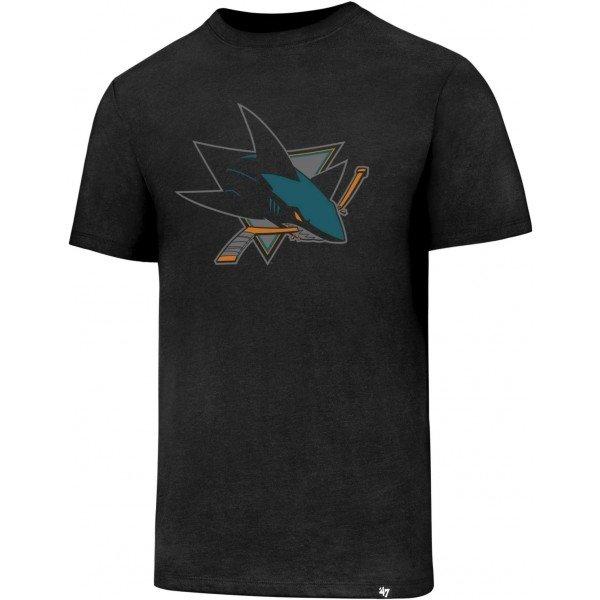 """Černé pánské tričko s krátkým rukávem """"San Jose Sharks"""", 47 Brand - velikost L"""