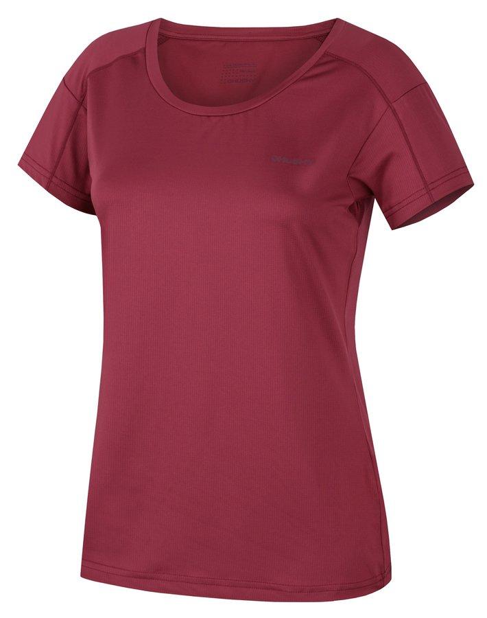 Fialové dámské funkční tričko s krátkým rukávem Husky - velikost L