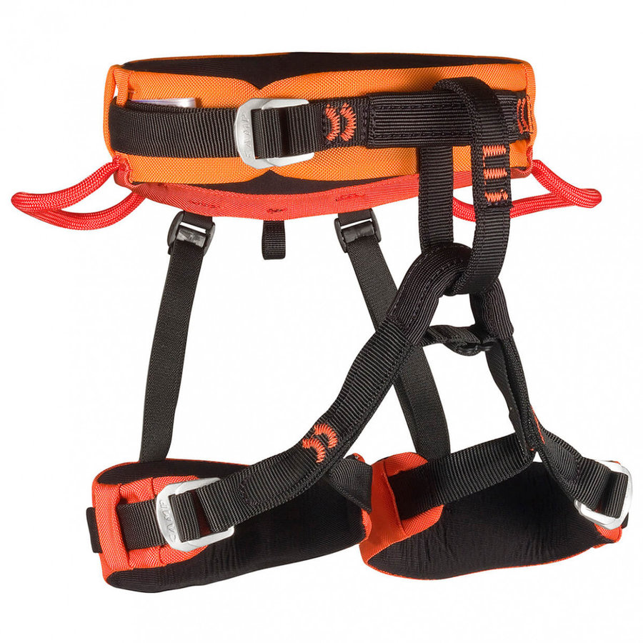 Černo-oranžový dětský horolezecký úvazek Camp