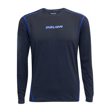 Modré dětské tričko s dlouhým rukávem Bauer
