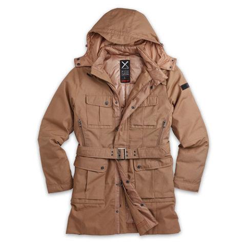 Kabát - Kabát dámský XYLONTUM zimní KHAKI + Dárek ZDARMA