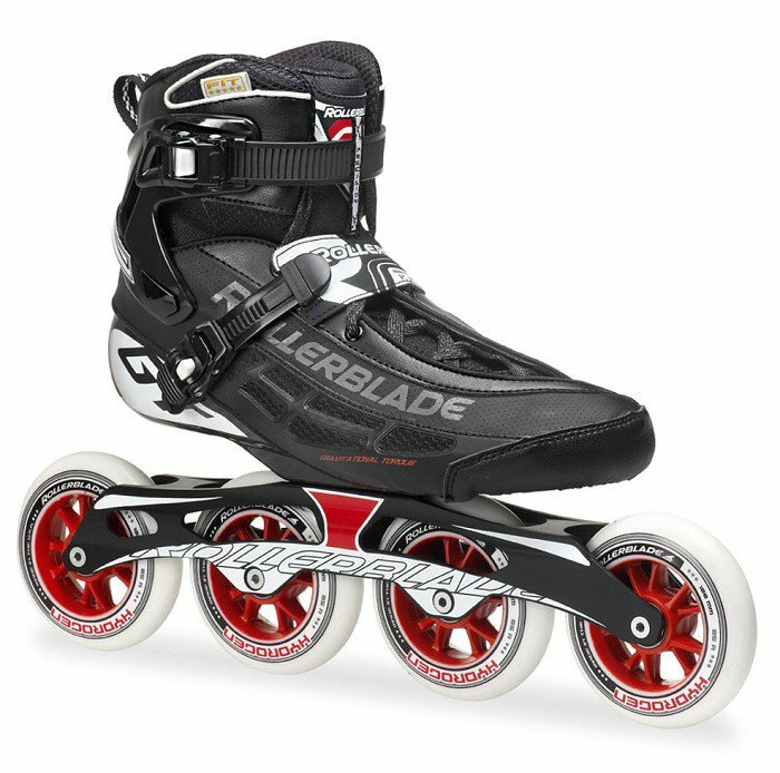 Černo-červené speedové kolečkové brusle Rollerblade - velikost 38 EU
