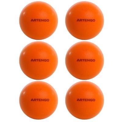 Oranžový míček na stolní tenis Artengo - průměr 44 mm - 6 ks