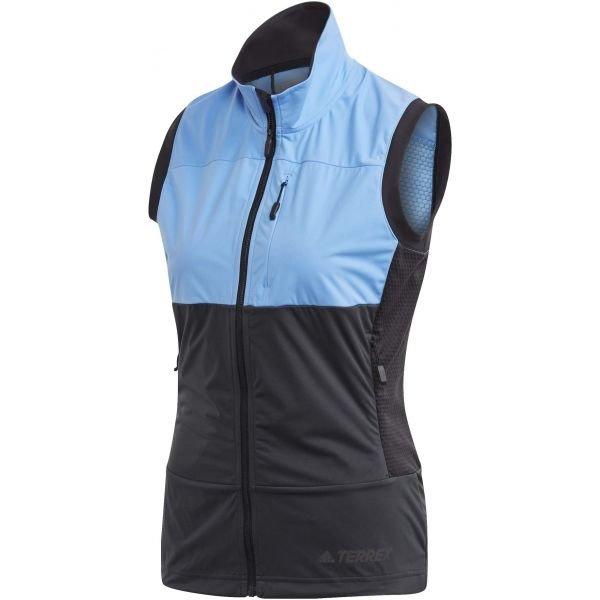 Černo-modrá dámská vesta Adidas
