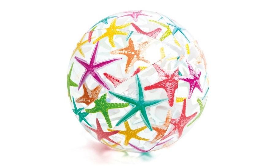 Plážový míč - Nafukovací plážový míč Intex 59040 51 cm hvězdice