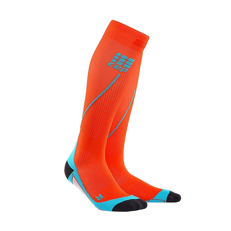 Oranžové vysoké pánské běžecké ponožky CEP - univerzální velikost
