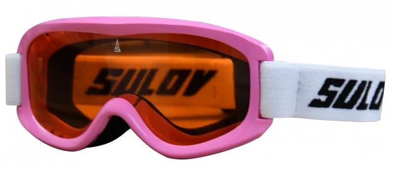 Růžové dětské lyžařské brýle Sulov