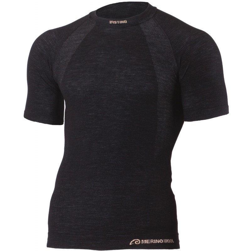 Černé pánské funkční tričko s krátkým rukávem Lasting - velikost S