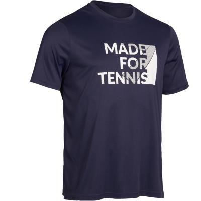 Modré pánské tenisové tričko Artengo - velikost M