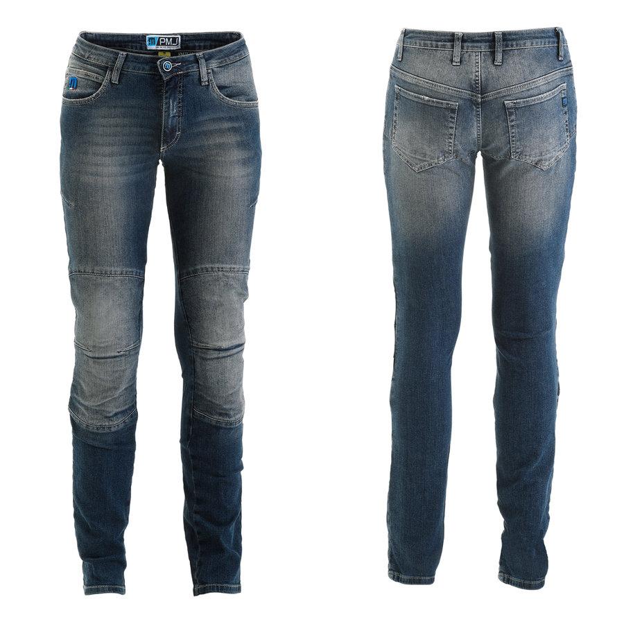 Modré dámské motorkářské kalhoty Florida fed9dc6345