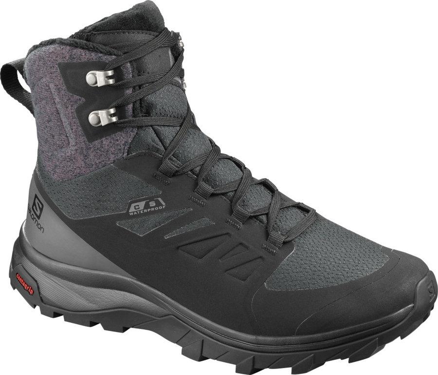 Černé dámské zimní boty Salomon, Sense
